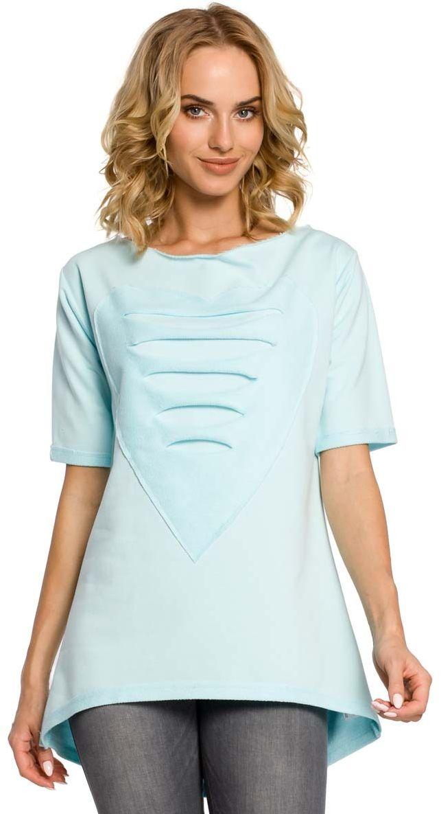 długa bluzka -tunika z sercem - miętowy