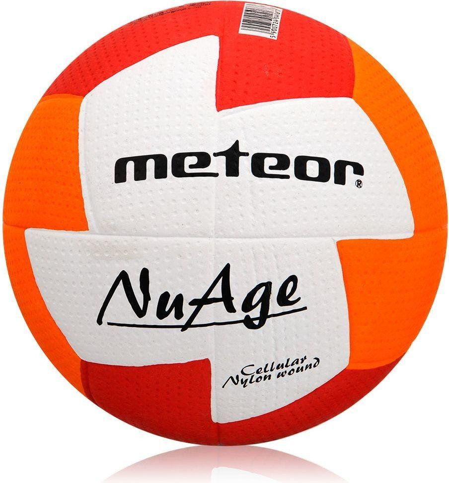Piłka ręczna Meteor Nuage r. 0 czerwono-pomarańczowa