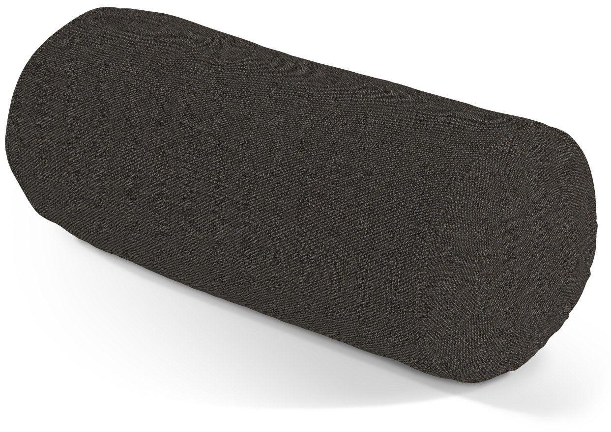 Poduszka wałek z zakładkami, brązowo-szary, Ø20  50 cm, Etna