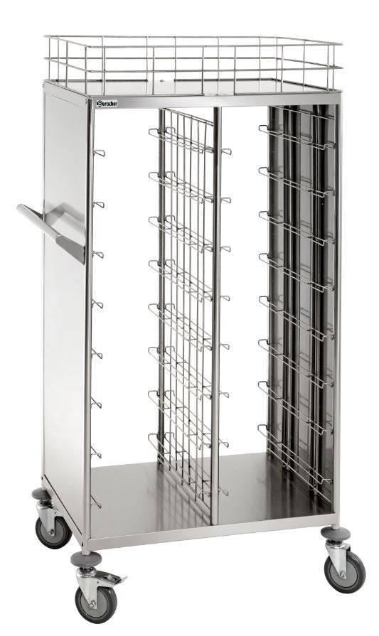 Bartscher Wózek do transportu pojemników i tac stołówkowych 16x 443x343mm 925x620x(H)1700mm - kod 300083