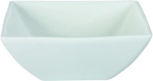 Dajar Miska Porto 18,5 cm, porcelana, biała, 18,5 x 18,5 x 7 cm