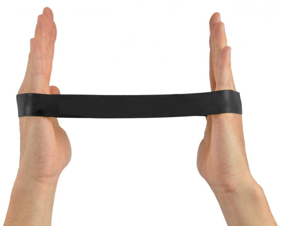 Gumowa pętla do ćwiczeń oporowych - Taśma Loop - opór super mocny (czarna)