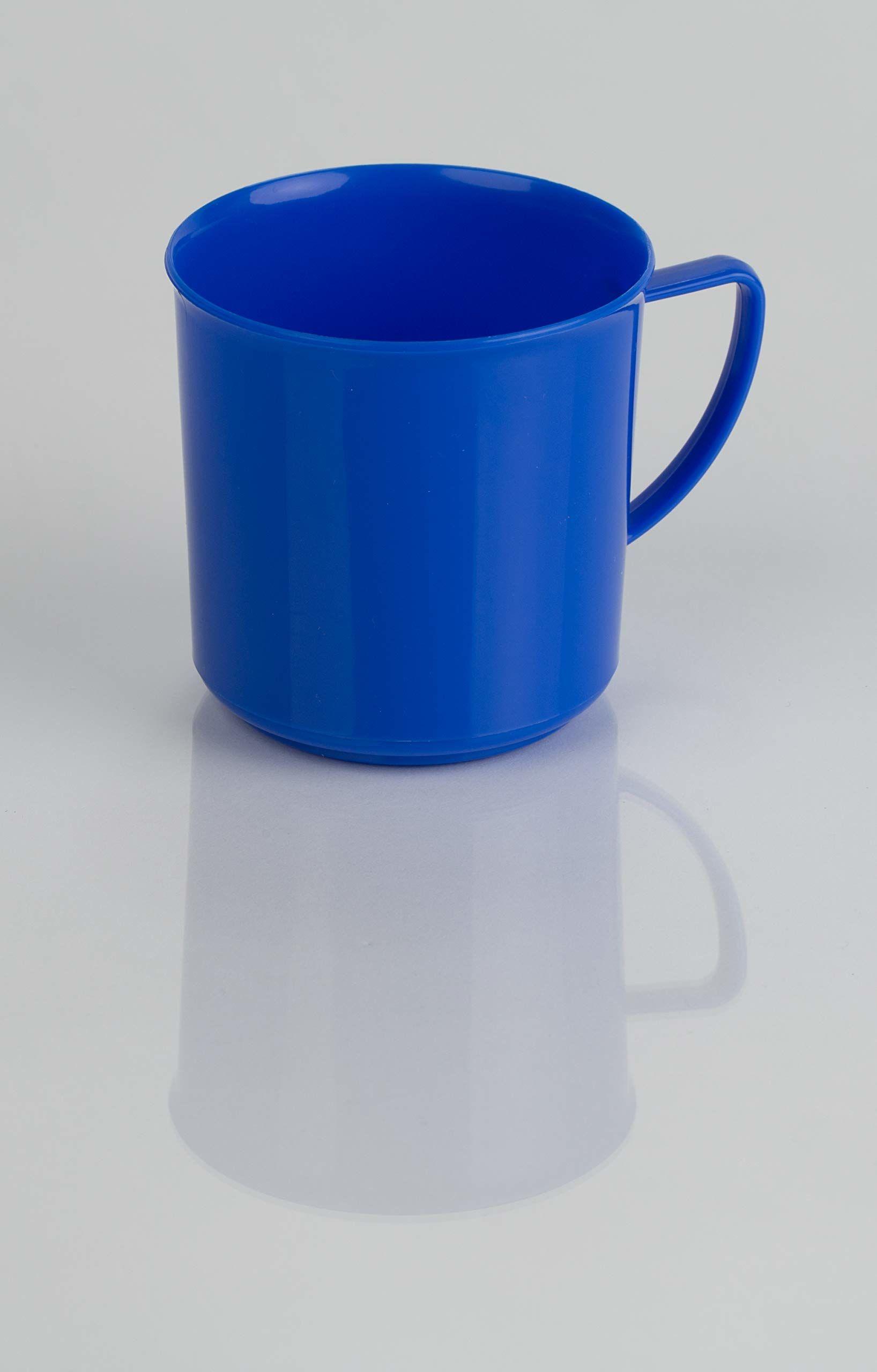 Kimmel kubek z uchem, filiżanka do herbaty, kubek do kawy, wielorazowy, odporny na pękanie, mały 180 ml, tworzywo sztuczne, niebieski