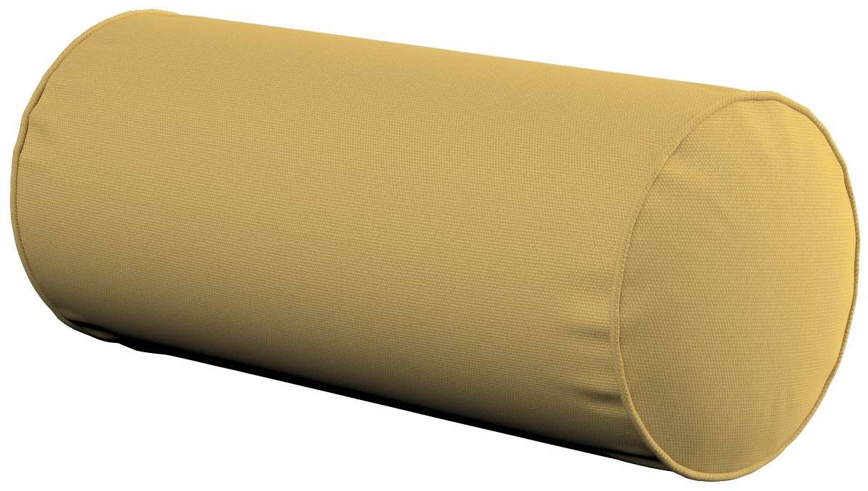 Poduszka wałek prosty, zgaszony żółty, Ø16  40 cm, Cotton Panama