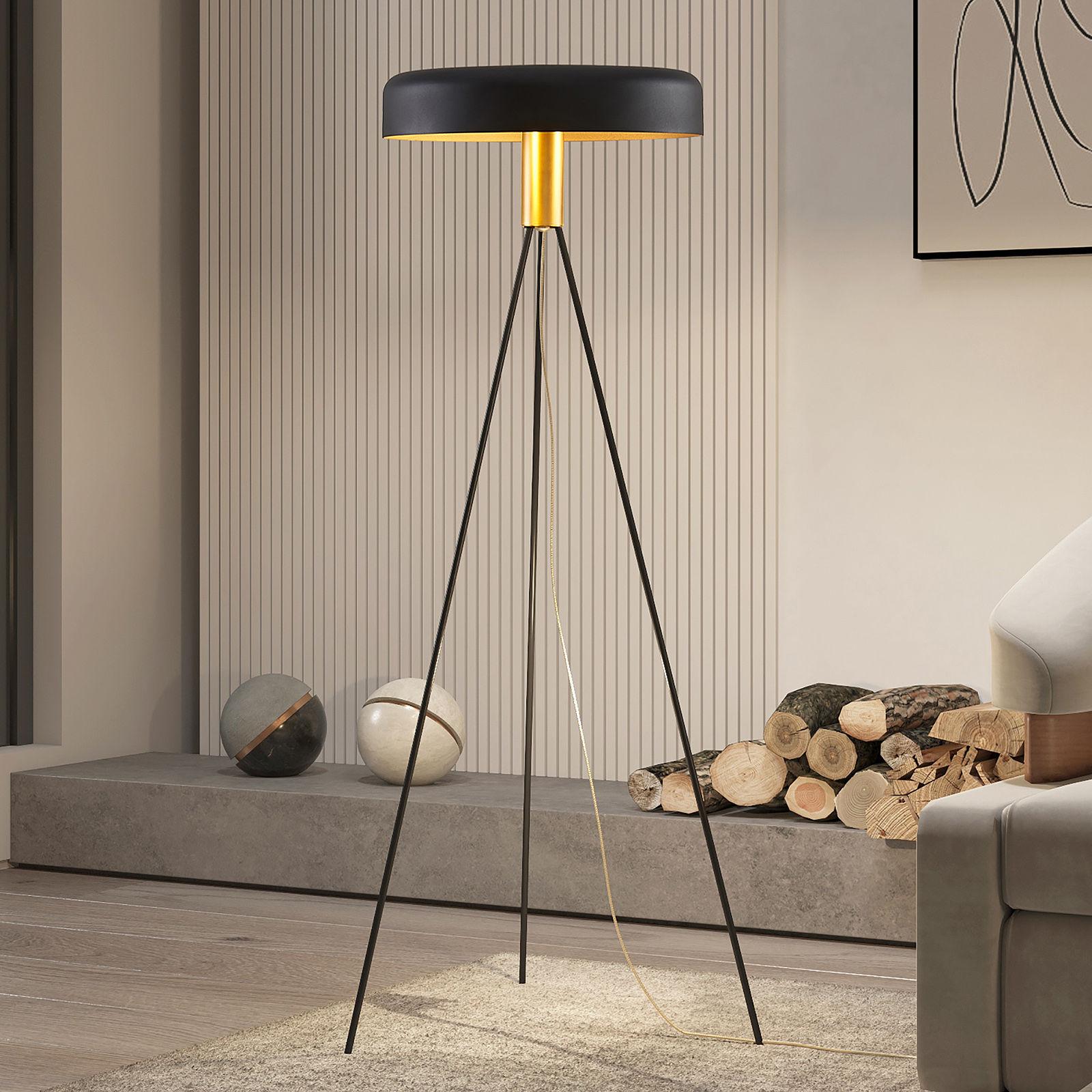 Lucande Filoreta lampa podłogowa czarna