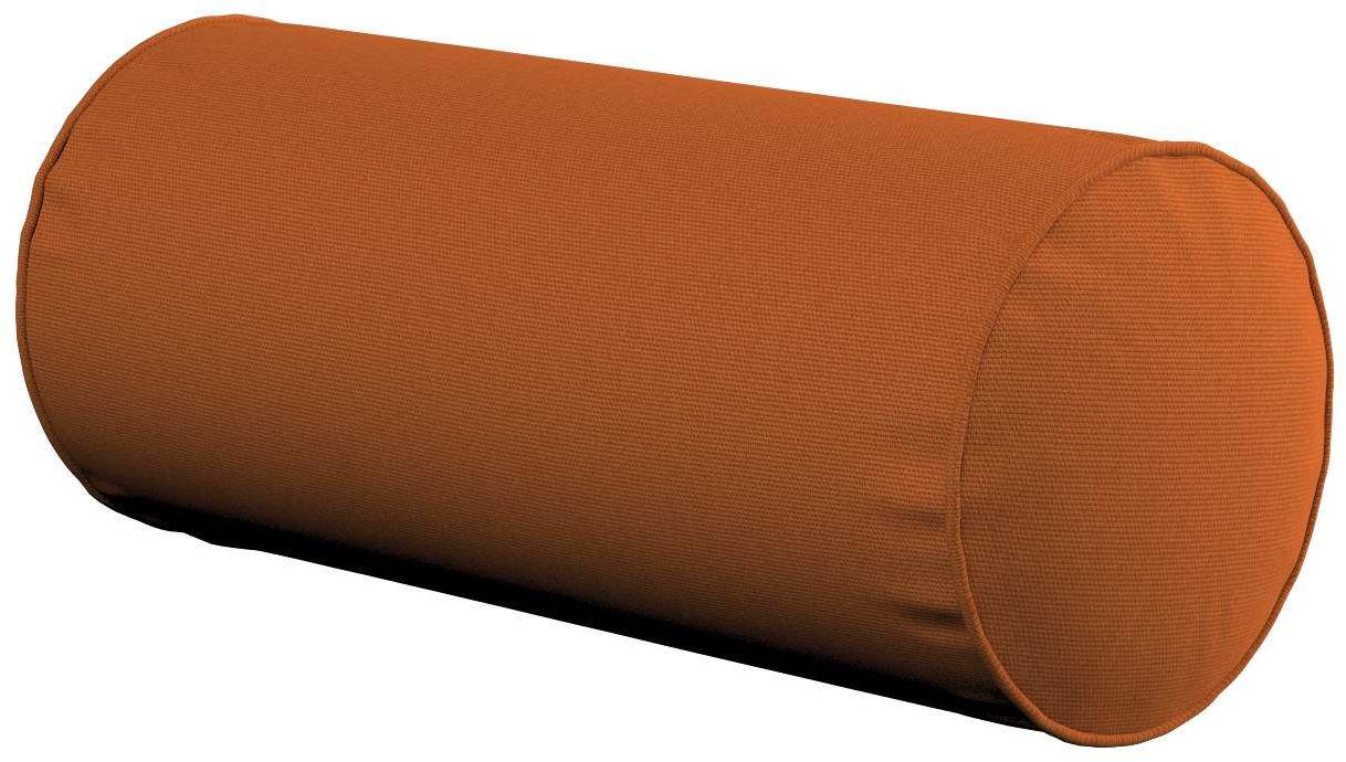 Poduszka wałek prosty, rudy, Ø16  40 cm, Cotton Panama