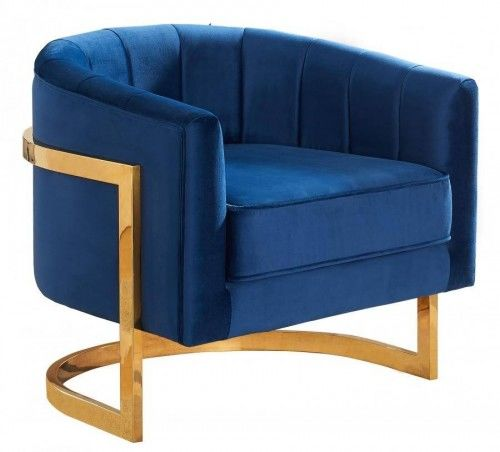 Fotel tapicerowany Muszla Velvet