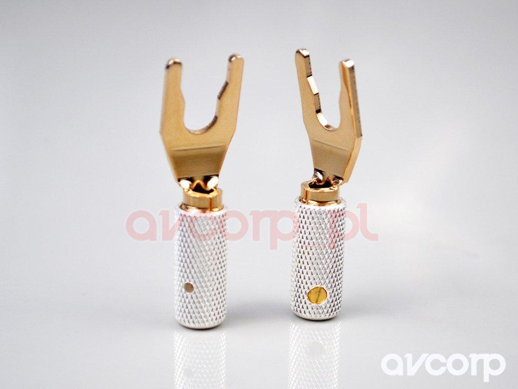 Wireworld GOLD SPADE Uni-Term with socket - wtyki widełkowe