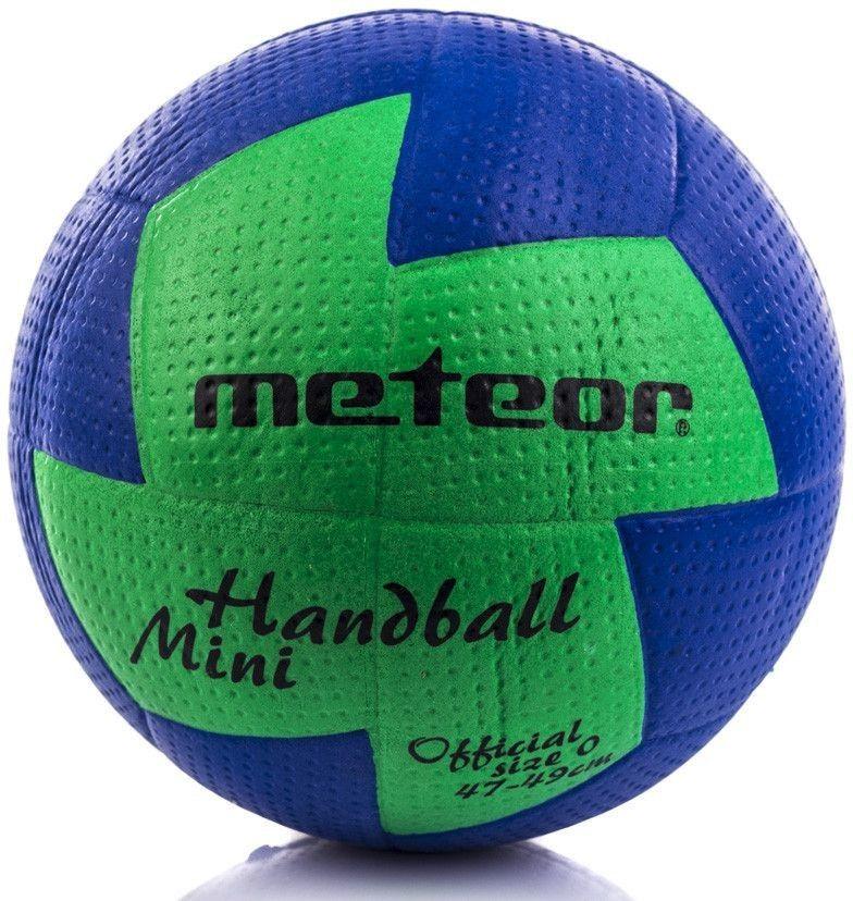 Piłka ręczna Meteor Nuage r. 0 niebiesko-zielona