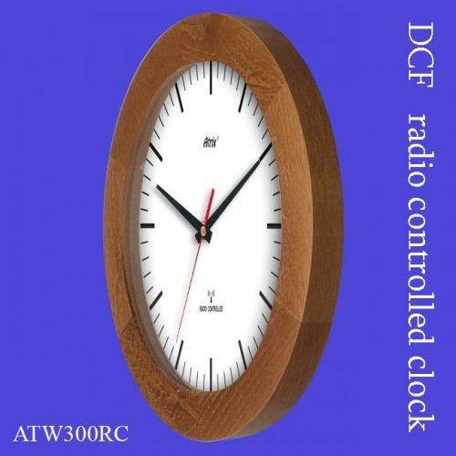 Zegar drewniany sterowany radiowo K2