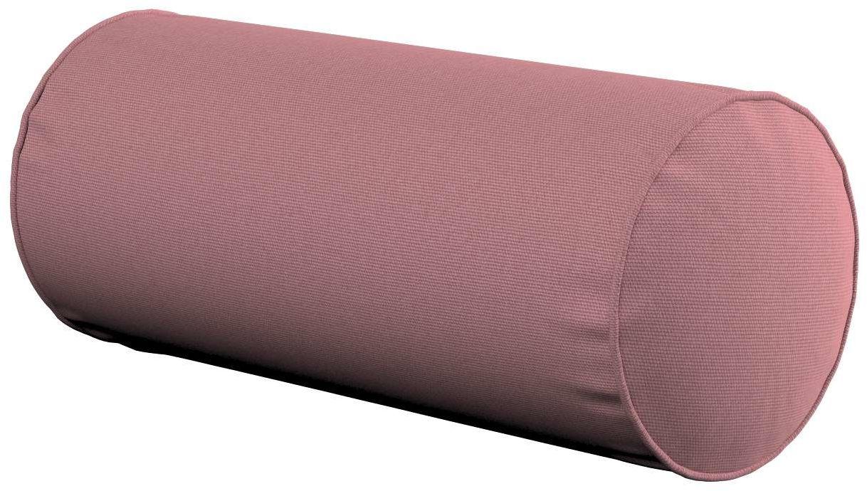 Poduszka wałek prosty, zgaszony róż, Ø16  40 cm, Cotton Panama