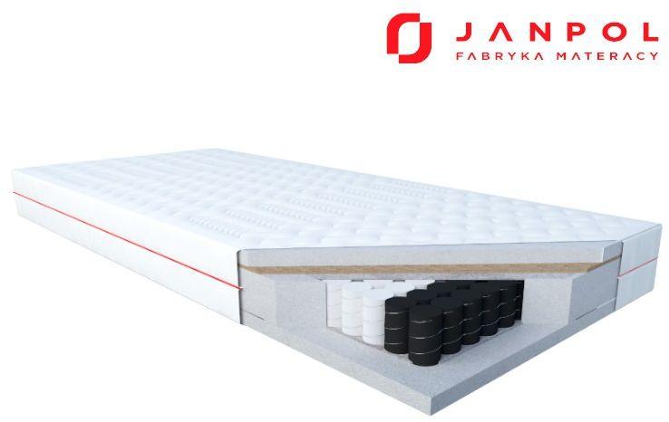 JANPOL DELIA  materac multipocket, sprężynowy, Rozmiar - 90x190, Pokrowiec - Smart WYPRZEDAŻ, WYSYŁKA GRATIS