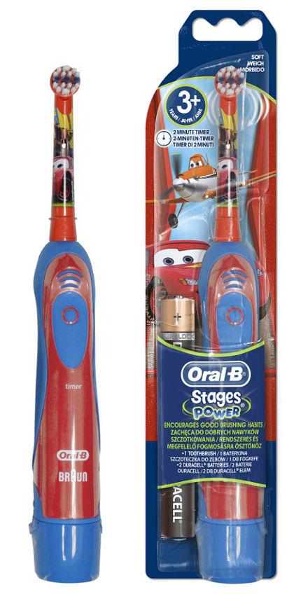 BRAUN Oral-B Stages Power DB4 CARS szczoteczka elektryczna na baterie dla dzieci