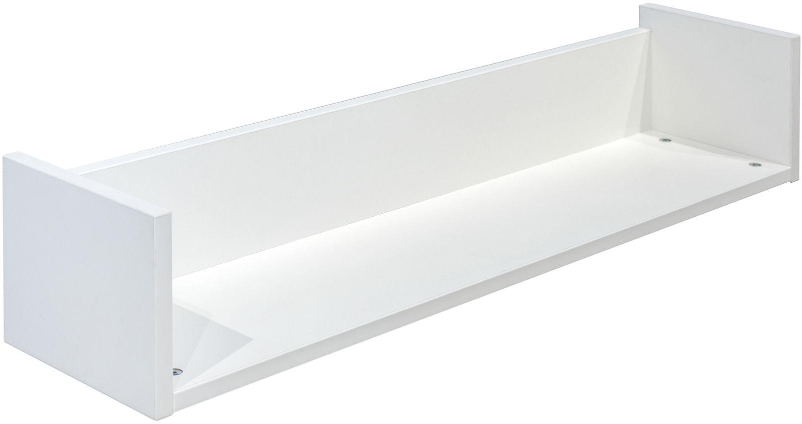 Biała minimalistyczna półka ścienna - Benny 4S