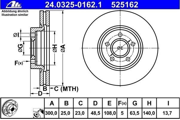 tarcze hamulcowe ATE PowerDisc - przód 300mm