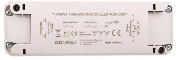 Transformator elektroniczny 0-150W 24V TEG-YT-150