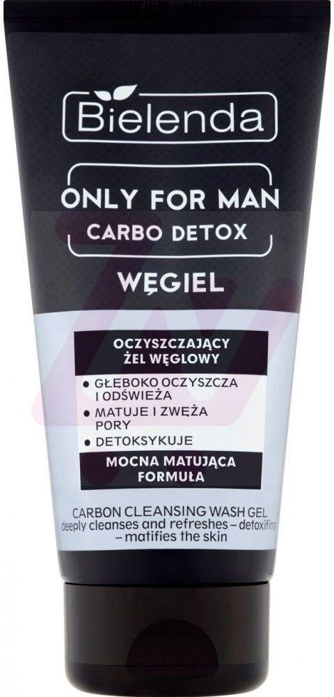 Bielenda Only For Men Carbo Detox Węgiel Oczyszczający Żel Węglowy do mycia twarzy 150g