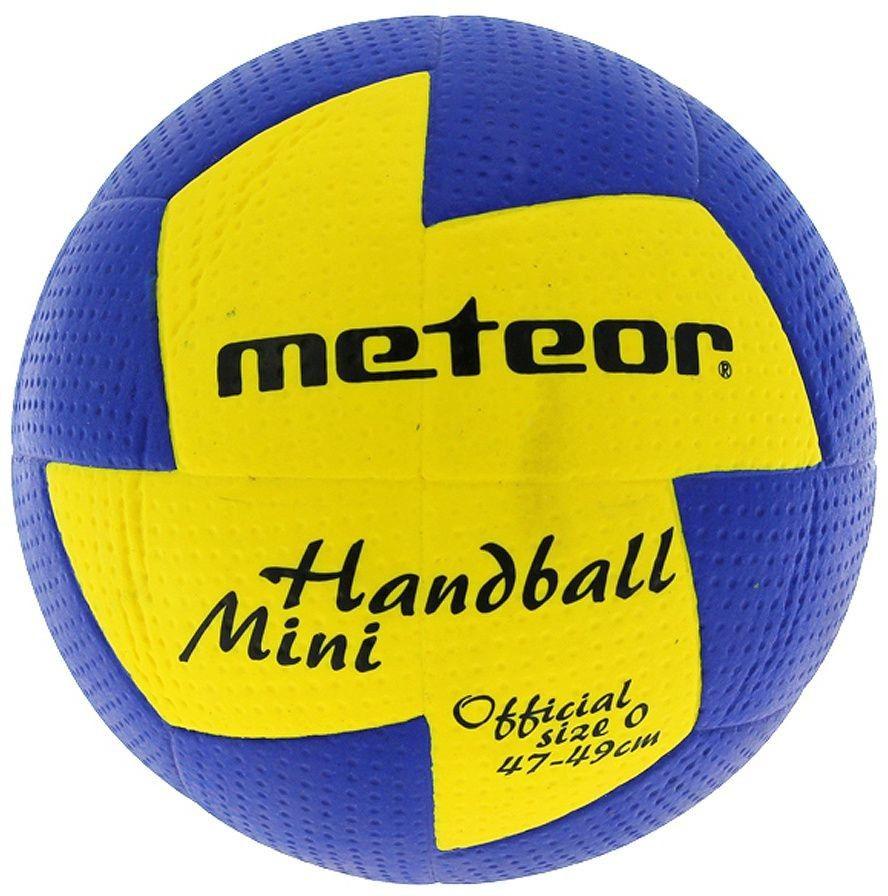 Piłka ręczna Meteor Nuage r. 0 niebiesko-żółta