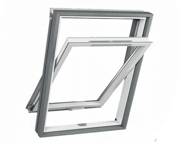 Okno dachowe obrotowe 3-szybowe RoofART PCV Thermo XCT