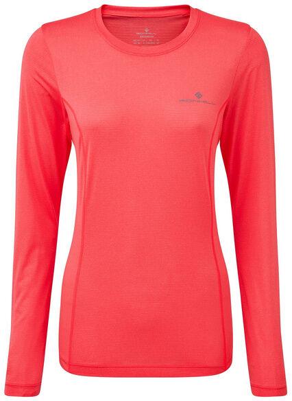 RONHILL Koszulka do biegania damska z długim rękawem WOMENS TECH L/S TEE różowa