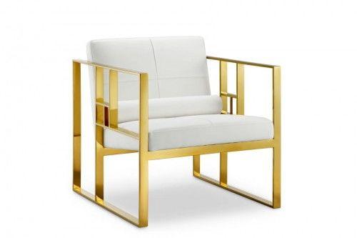 Mona Lisa Chair skóra naturalna/chrom