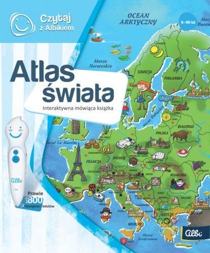 Czytaj z Albikiem Atlas Świata mówiąca książka Albi