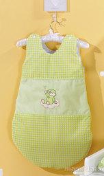 MAMO-TATO Śpiworek niemowlęcy haftowany Śpioch na chmurce w zieleni