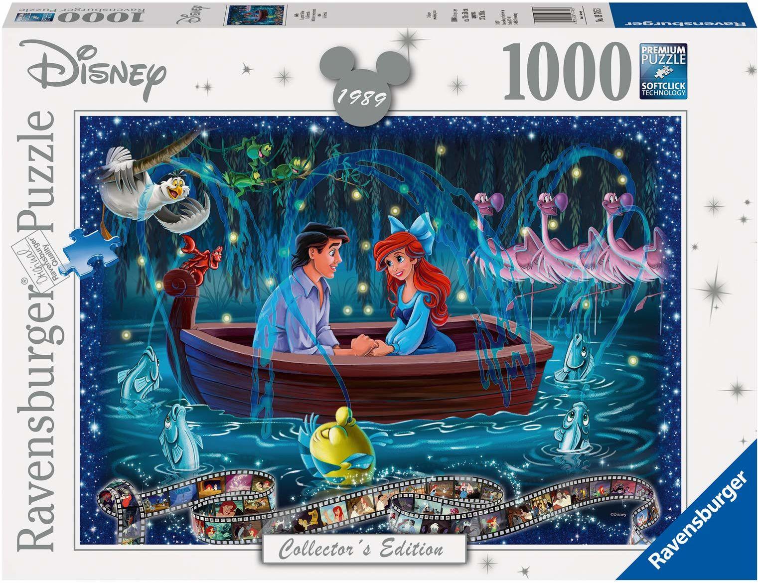 Ravensburger Puzzle 19745 Walt Disney. Mała Syrenka 1000 Elementów Puzzle Dla Dorosłych (19745) Unikalne Elementy, Technologia Softclick - Klocki Pasują Idealnie