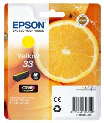 Wkład atramentowy EPSON 33 Zółty