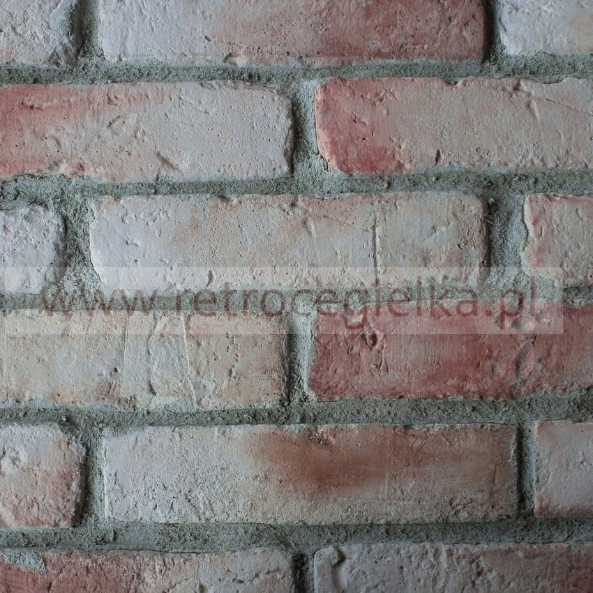 Płytki ze starej cegły - łososiowa jasna