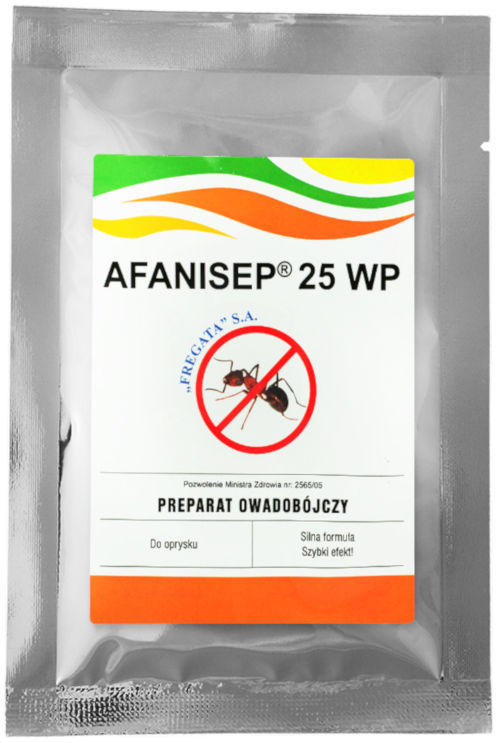 Afanisep 25WP 25g. Środek owadobójczy, permetryna.