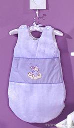 MAMO-TATO Śpiworek niemowlęcy haftowany Śpioch na chmurce w fiolecie