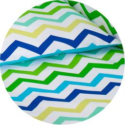 MAMO-TATO dwustronna pościel 2-el Zygzak niebiesko-zielony / niebieski do łóżeczka 60x120cm