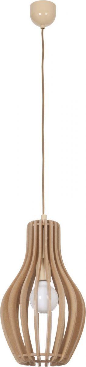 Lampa wisząca Ika A 4171 Nowodvorski Lighting drewniana oprawa w dekoracyjnym stylu