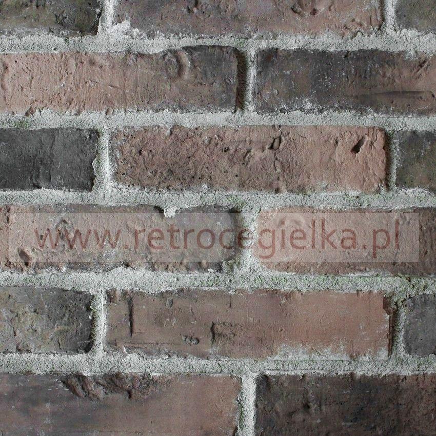 Płytki ze starej cegły - ciemnobrązowa z przebarwieniami