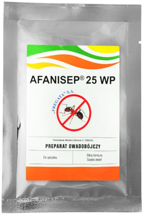 Afanisep 25WP 25g Permetryna na karaluchy, rybiki, mrówki.