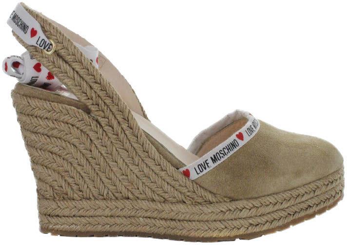 Sandały damskie Love Moschino beżoweJA1027AI07JF0105