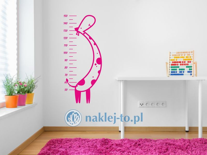 naklejka dla dziecka miarka żyrafa 2 naklejka miarka