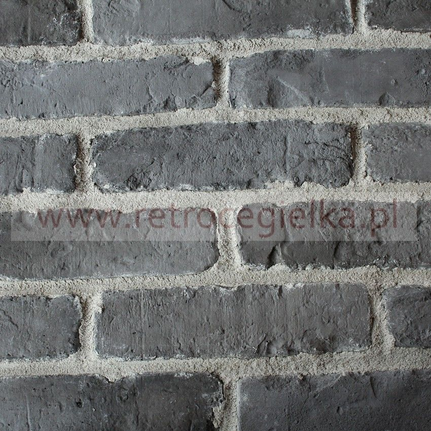 Płytki ze starej cegły - grafitowa