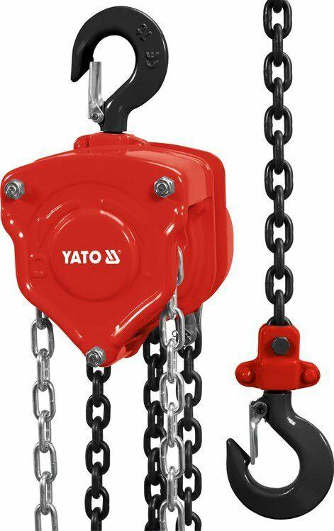 WCIĄGNIK ŁAŃCUCHOWY 2,0 T, ŁAŃCUCH 3,0 M Yato YT-58953 - ZYSKAJ RABAT 30 ZŁ