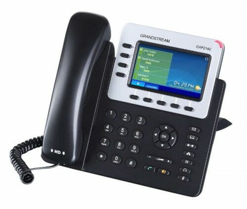 GXP2140 HD Telefon VoIP, 4 konta SIP, POE, porty GB, bluetooth - Grandstream