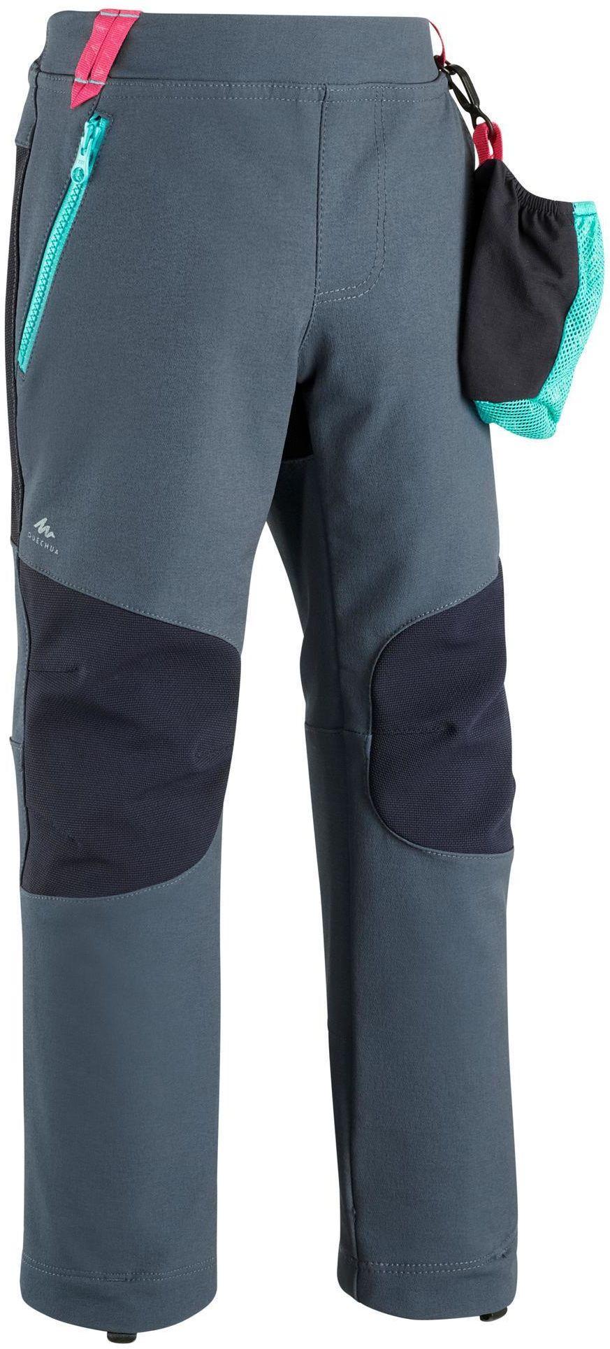 Spodnie softshell turystyczne dla dzieci MH550