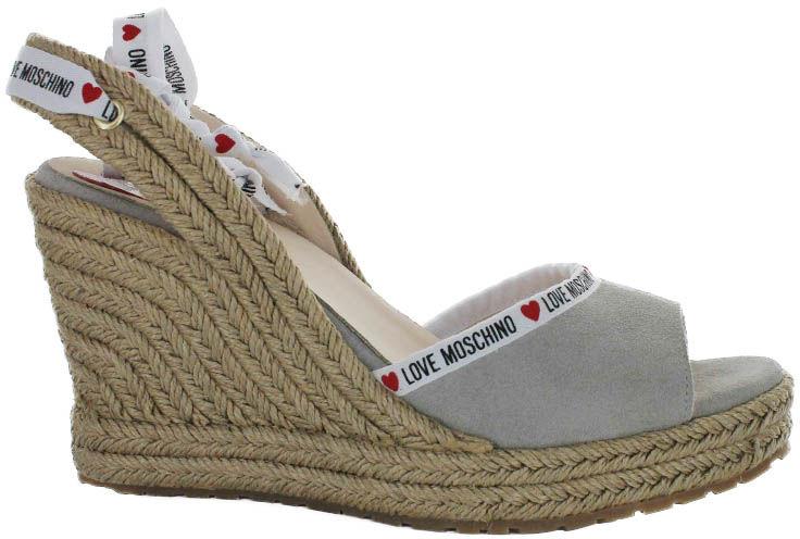 Sandały damskie Love Moschino szareJA1633AI07JF0010