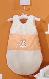 MAMO-TATO Śpiworek niemowlęcy haftowany Śpioch na chmurce brzoskwiniowy