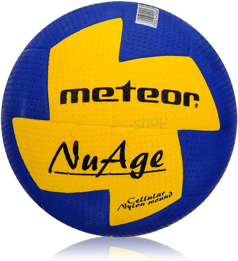 Piłka ręczna Meteor Nuage r. 1 niebiesko-żółta