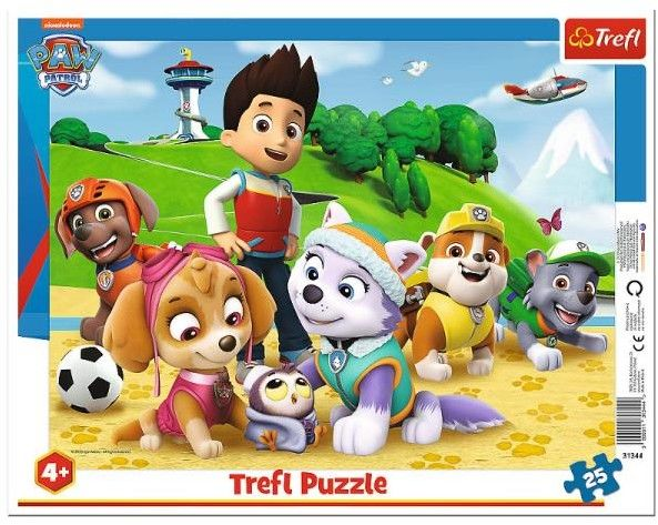 Puzzle dla dzieci 25 ramkowe - Psi Patrol, PAW Patrol