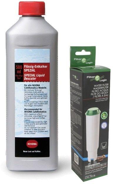 Zestaw konserwujący filtr wody, odkamieniacz do ekspresu kolbowego KlinikaAGD