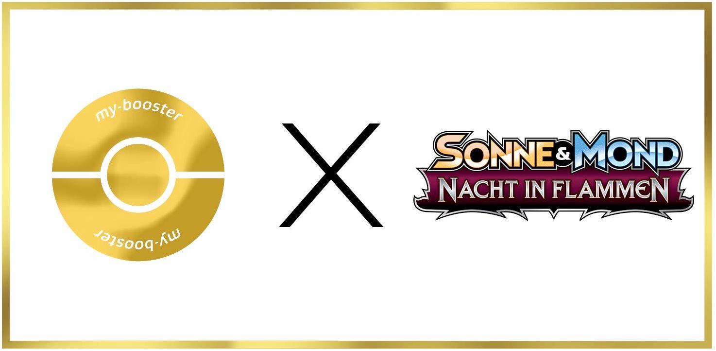 Tectass-GX SM62  #myboost X słońce i księżyc 3 noc w płomieniach  pudełko z 10 niemieckimi kartami Pokémon