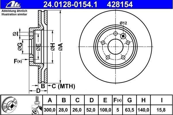 tarcze hamulcowe ATE - przód - 300 mm Mondeo mk4, S-Max/Galaxy mk3