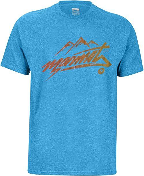 Marmot Męski T-shirt Marmot Rad T-shirt męski niebieski Royal Heather S